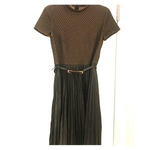 Muse leather dress with belt included